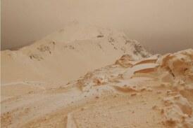 Πορτοκαλί χιόνι κάλυψε την ανατολική Ευρώπη